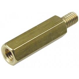 PCHSN-15, Стойка для печатных плат,шестигр., латунь, М3, 15мм